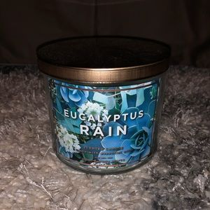 NWT, Eucalyptus Rain bath and body works candle